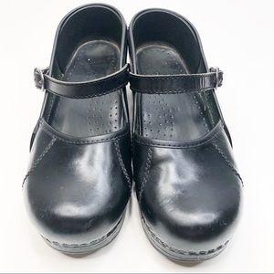 Dansko Black Mary Janes Clogs